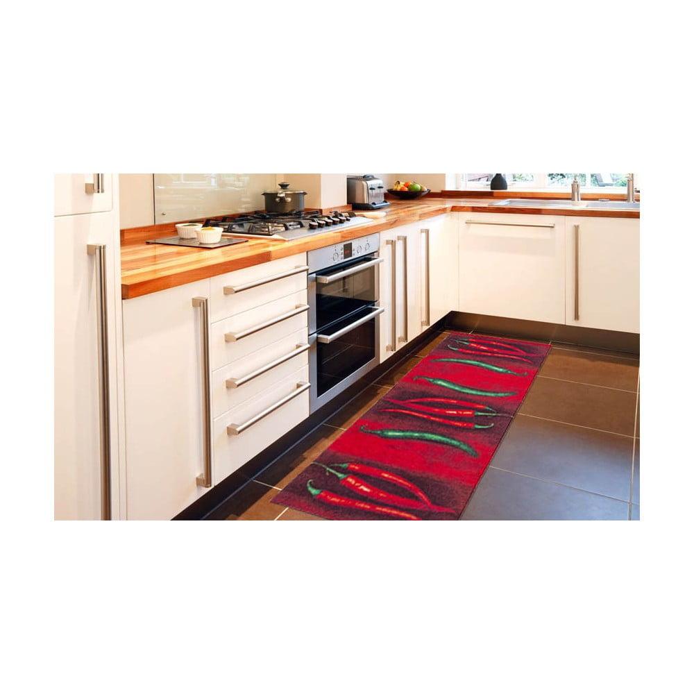 Vysoce odolný kuchyňský koberec Webtappeti Peperoncini, 60 x 220 cm