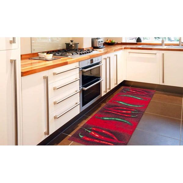 Vysoce odolný kuchyňský běhoun Webtappeti Peperoncini, 60x220 cm