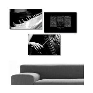 3dílný obraz Music, 45x90 cm
