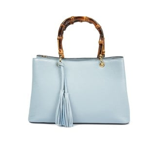 Světle modrá kožená kabelka Carla Ferreri Celestina