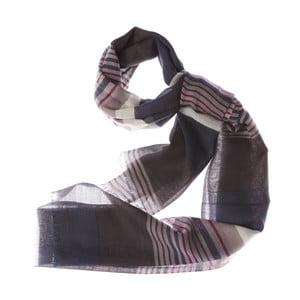 Šátek Bold Stripe Dark, 180x70 cm