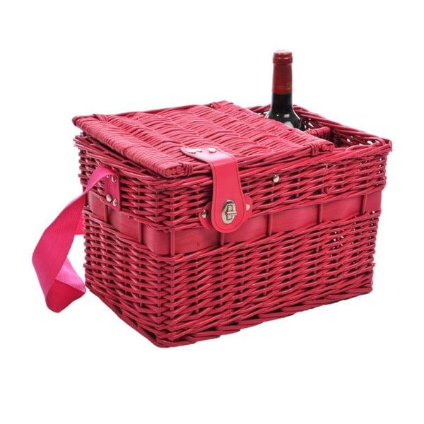 Piknikový koš Picnic Pink, 37x24x24 cm