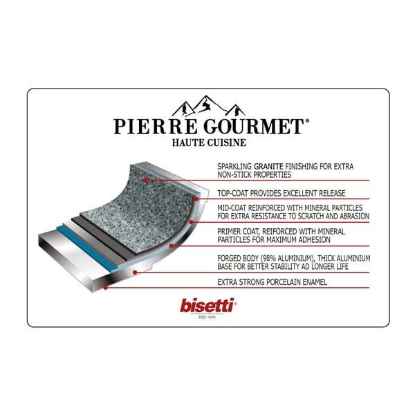 Hrnec s poklicí a úchyty s imitací dřeva Bisetti Pierre Gourmet, ø 24 cm