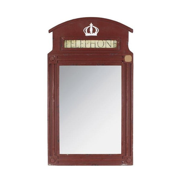 Dřevěné zrcadlo Telephone, 80x45 cm