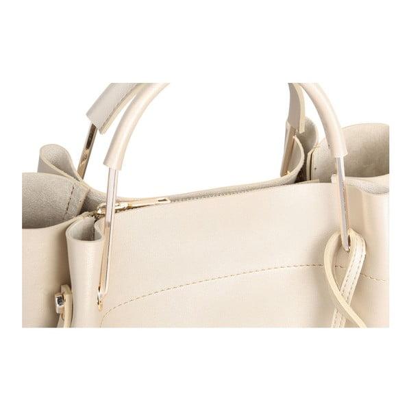 Krémová kabelka se zlatými odlesky Beverly Hills Polo Club Amy