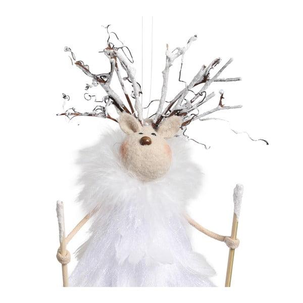 Set 4 decorațiuni suspendate Côté Table Reindeer Plume