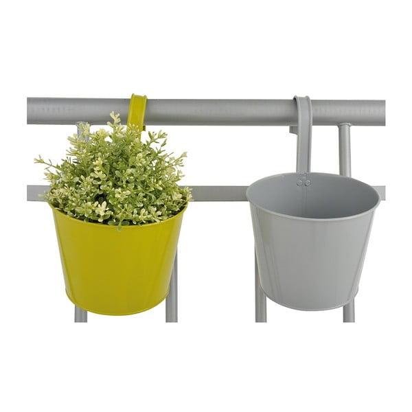Sada 2 závěsných květináčů na balkón Esschert Design Magic, šířka 16cm