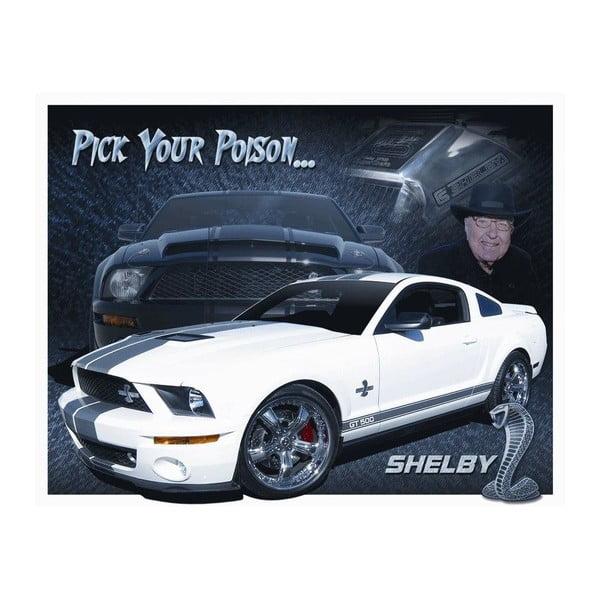 Plechová cedule Shelby, 30x40 cm