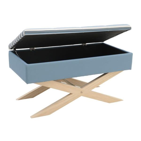 Modrá lavice s úložným prostorem InArt Zaballa