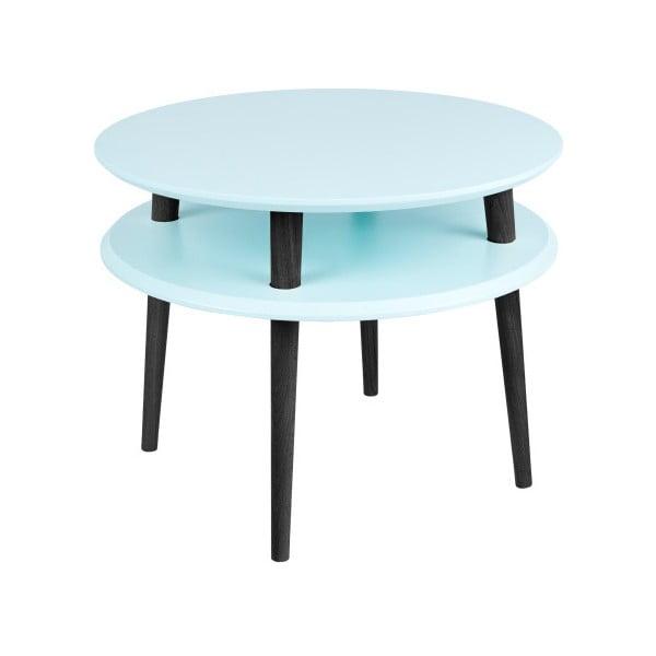 UFO világos türkiz dohányzóasztal fekete lábakkal, Ø 57 cm - Ragaba