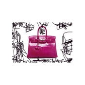 Obraz Couture Croc Pink, 61 x 91 cm