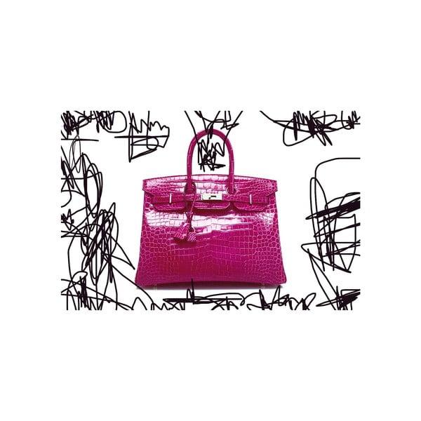 Obraz Couture Croc Pink, 41 x 61 cm
