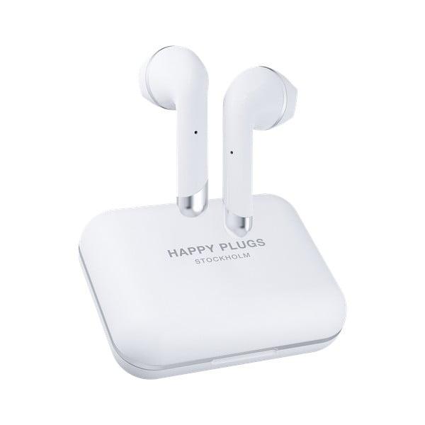Bílá bezdrátová sluchátka Happy Plugs Air 1 Plus