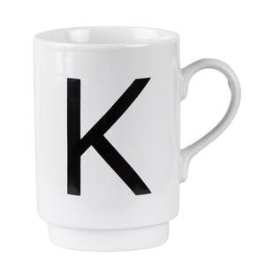 Porcelánový písmenkový hrnek KJ Collection K, 250ml