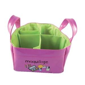 Růžovo-zelený úložný box na make-up Incidence Maquillage