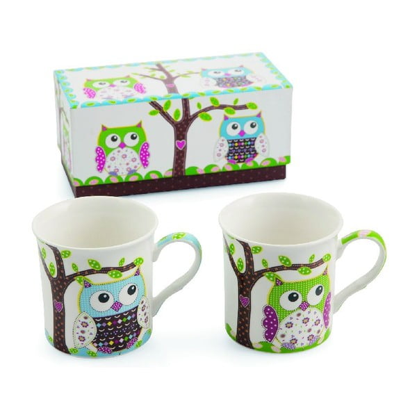 Set 2 hrnků Teatime Owl