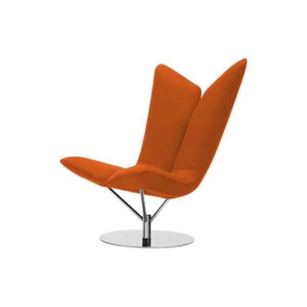 Pomarańczowy fotel Softline Angel Felt Mandarin