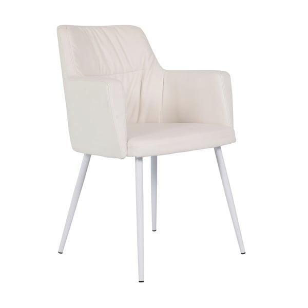 Krémová kožená jídelní židle RGE Mars