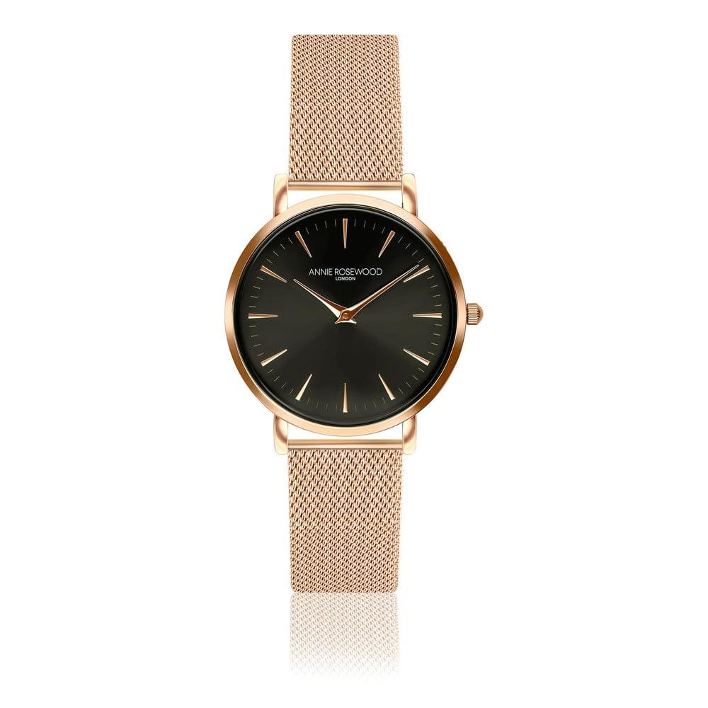 Dámské hodinky snerezovým páskem Annie Rosewood Agi Gold