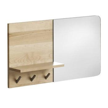 Oglindă de perete cu raft din lemn de mesteacăn Geese Stockholm imagine