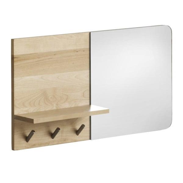 Oglindă de perete cu raft din lemn de mesteacăn Geese Stockholm