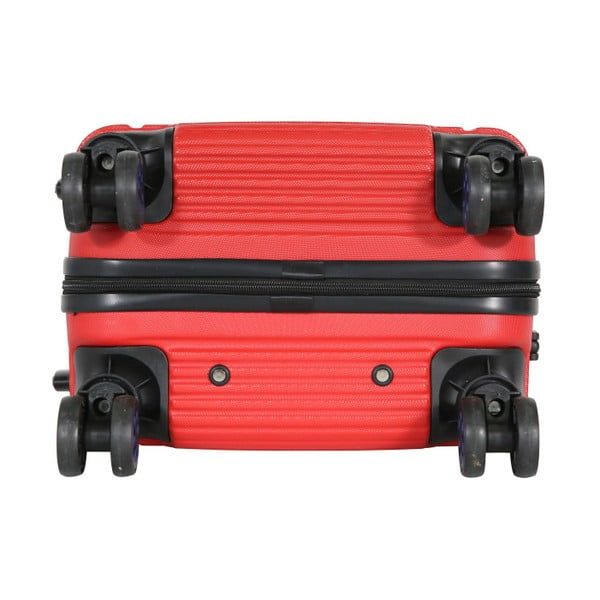 Červené kabinové zavazadlo na kolečkách Travel World