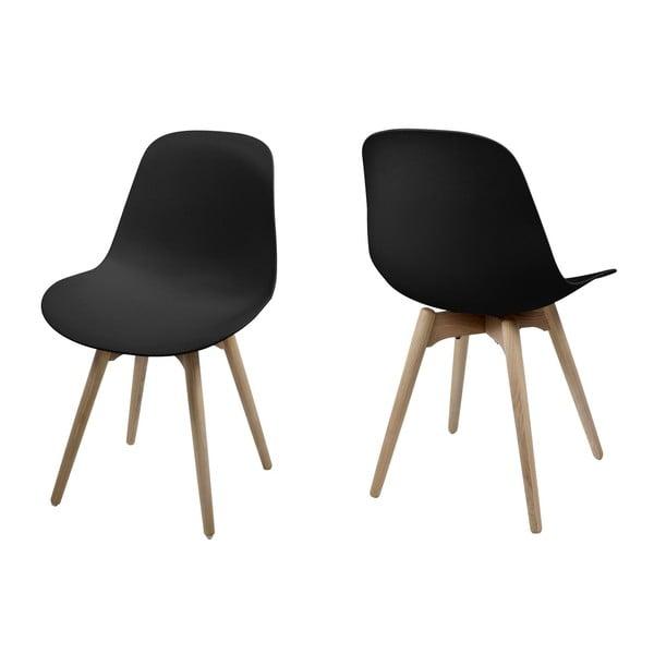 Sada 2 jídelních židlí Scramble, černá