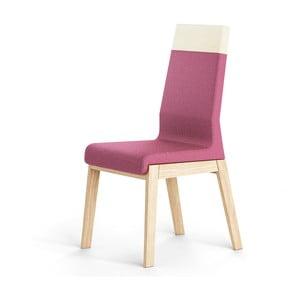 Růžová židle z dubového dřeva Absynth Kyla Two