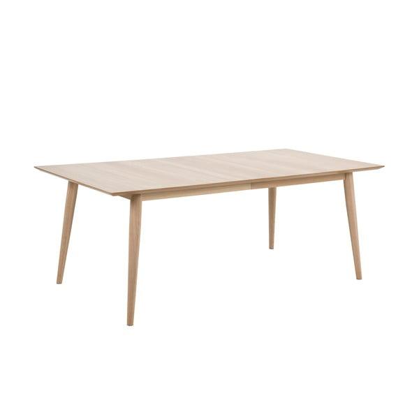 Century bővíthető étkezőasztal tölgyfa lábszerkezettel, 200x100cm - Actona