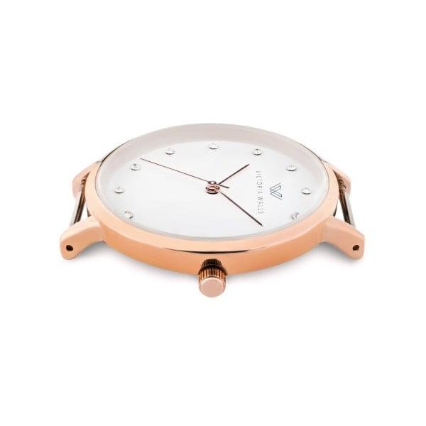 Dámské hodinky s bílým koženým řemínkem Victoria Walls Dusk