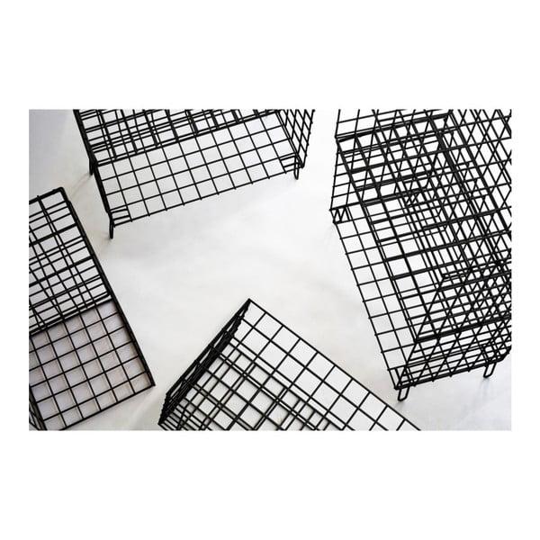 Černá kovová úložná skříňka Really Nice Things, 56 x 70 cm
