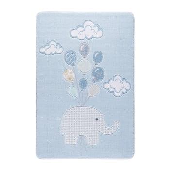 Covor pentru copii Sweet Elephant Azul, 133 x 190 cm de la Confetti