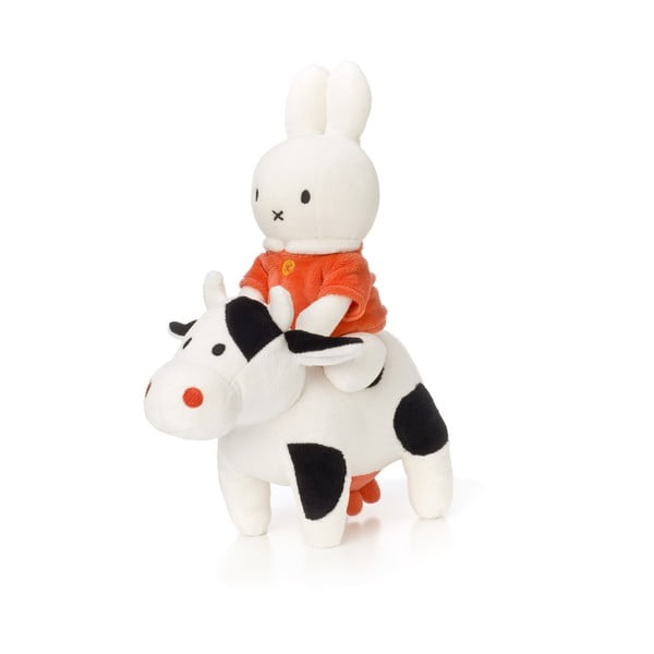 Plyšový králík Miffy na kravičce, 23 cm