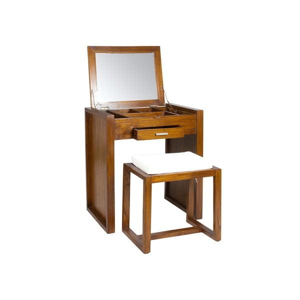 Măsuță de toaletă și taburet din lemn mindi Santiago Pons Ohio