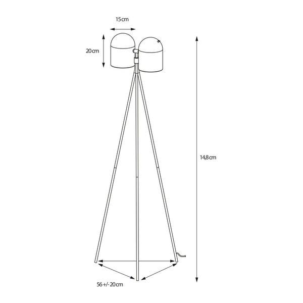 Černá stojací lampa Design Twist Dang