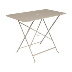 Béžový zahradní stolek Fermob Bistro, 97 x 57 cm