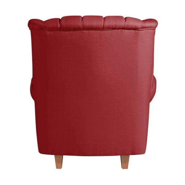 Červené křeslo ušák Max Winzer Vary Leather Chili