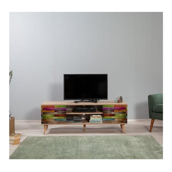 Dřevěný TV stolek Fokas Rainbow