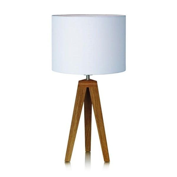 Bílá stolní lampa Markslöjd Kullen, ⌀ 28cm