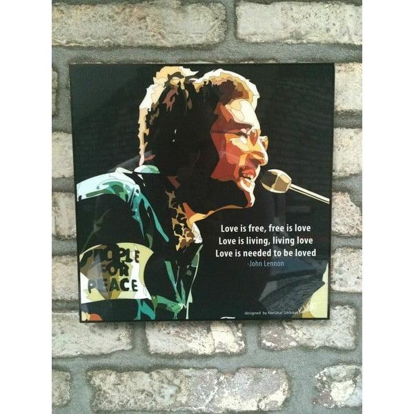 Obraz John Lennon - Love is free, free is love