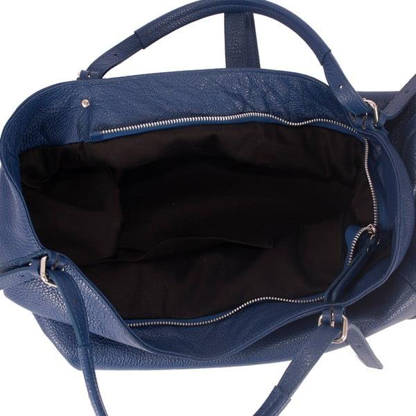 Modrá kabelka z pravé kůže Andrea Cardone Luca