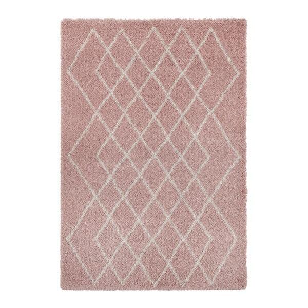 Różowo-kremowy dywan Mint Rugs Allure, 160x230 cm