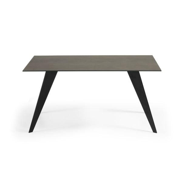 Jídelní stůl se šedou deskou La Forma Nack, 90x160cm