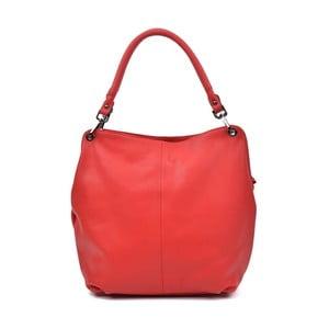 Červená kožená kabelka Anna Luchini Sally