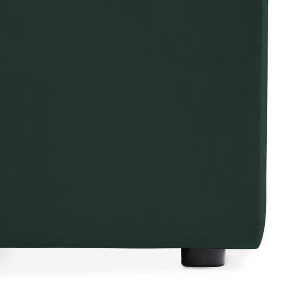 Tmavě zelená dvoumístná modulová pohovka s podnožkou Vivonita Velvet Cube