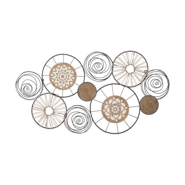 Nástěnná kovová dekorace Mauro Ferretti Masai, 92x47cm