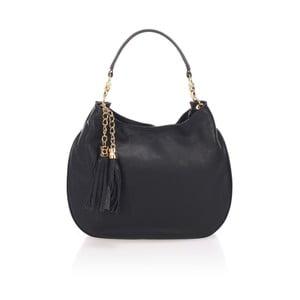 Černá kožená kabelka Lisa Minardi Tuda