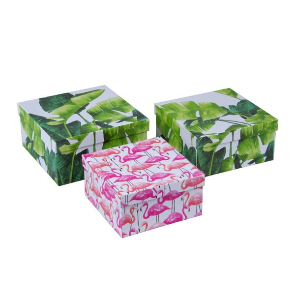 Set 3 cutii depozitare Tri-Coastal Design Palm Beach Chic