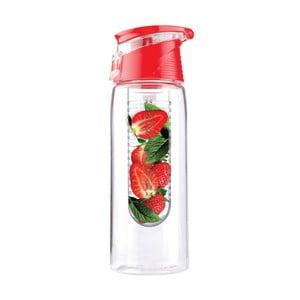 Červená lahev Asobu Flavour It 2 Go, 600 ml