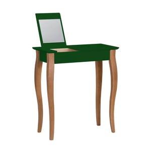 Tmavě zelený toaletní stolek se zrcadlem Ragaba Lillo, šířka65cm